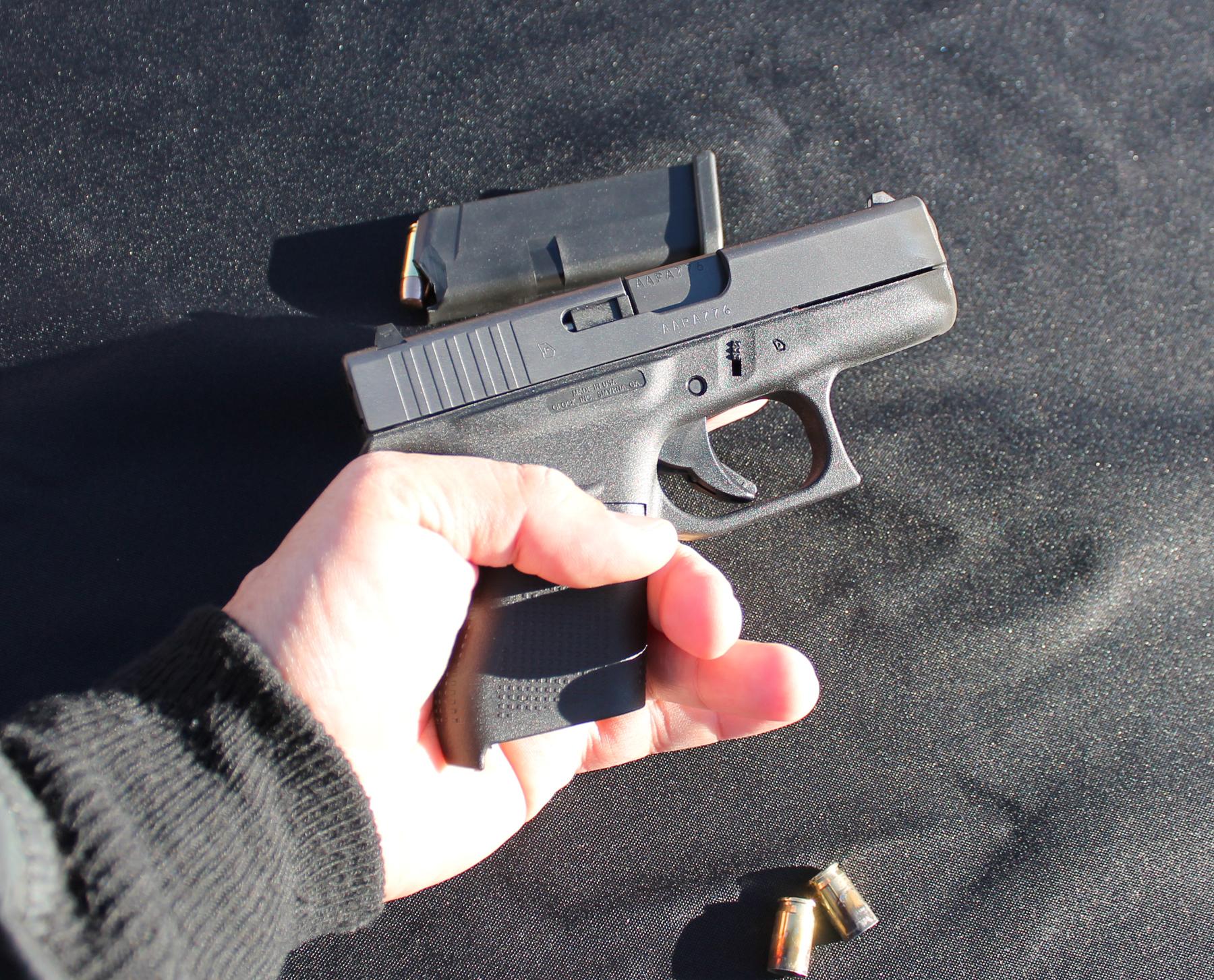 Glock 42 in hand