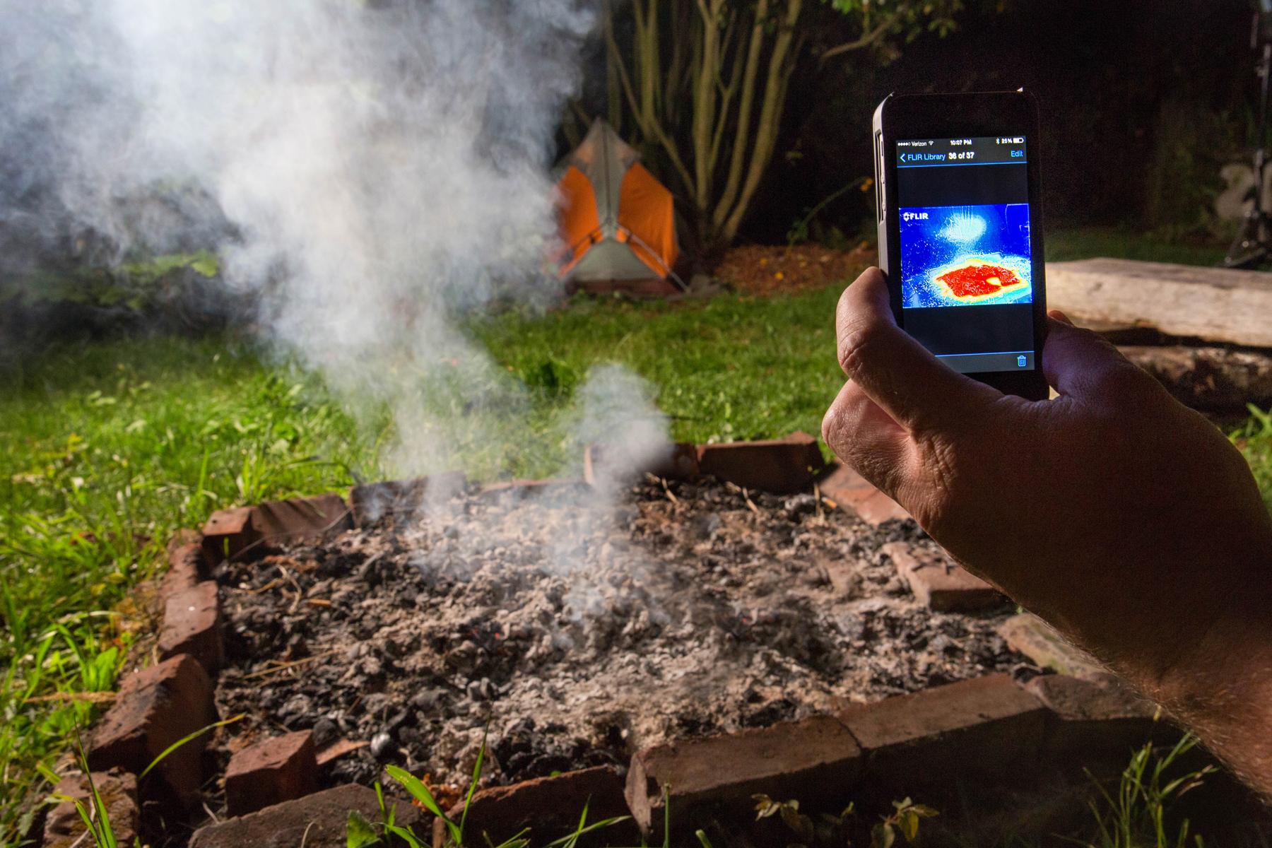 FLIR One Campfire