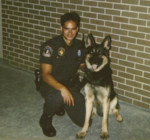 Author with his second K9 partner.