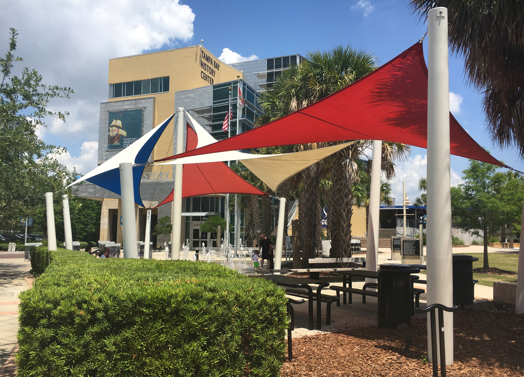 Heroes Plaza canopies